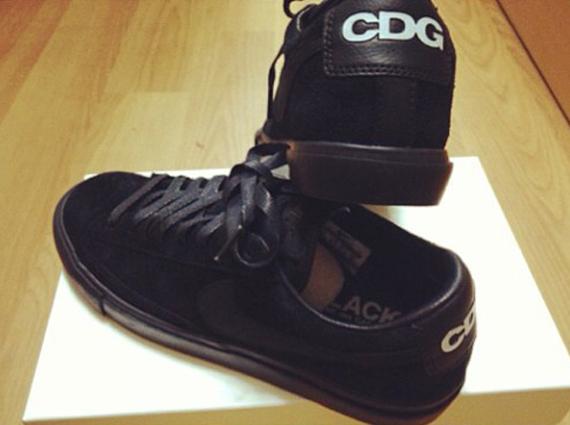 7939686fc79 Comme des Garcons BLACK x Nike Blazer Low - SneakerNews.com