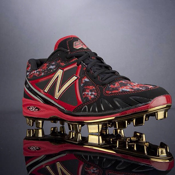 New Balance Gold Plated Cleats For Dustin Pedroia