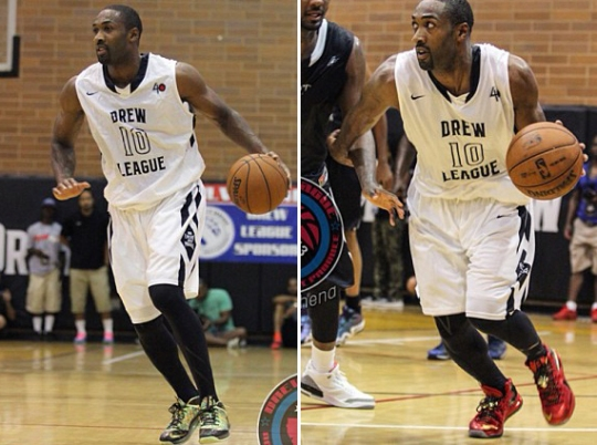 "Gilbert Arenas in Nike LeBron X ""Championship Pack"" at Drew League Game"