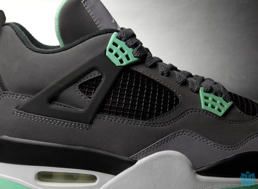 "Air Jordan IV ""Green Glow"" - Beauty Shots - SneakerNews.com |Nike Jordan Glow"