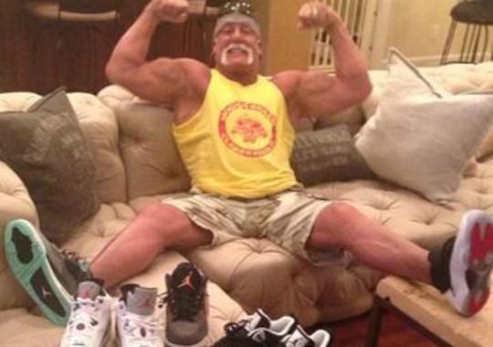Hulk Hogan Flexes His Air Jordans