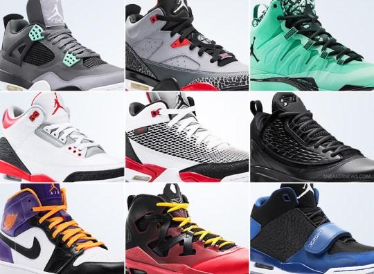 Jordan Brand August 2013 Footwear