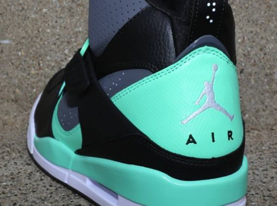 Jordan Flight 45 High - Black - Dark Grey - Green Glow - SneakerNews.com bf97a6c1c