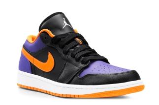 Air Jordan 1 Low Black/Bright Citrus-Court Purple-White 553558-038 08/2013  $105 More: Air Jordan 1 Low