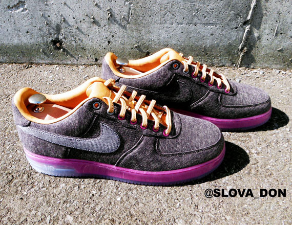 detailed look 7dd0b 30e7c Nike Air Force 1 Bespoke quotLeBron X Denimquot by Slovadon hot sale