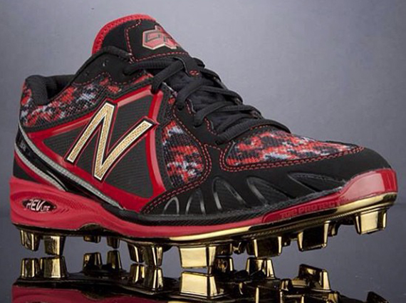 New Balance Gold-Plated Cleats for Dustin Pedroia