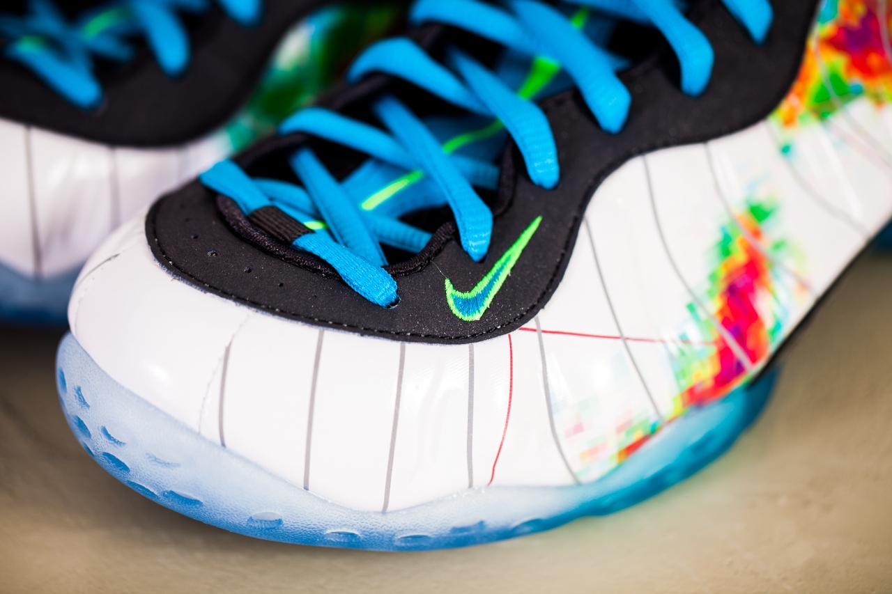 Nike little posite gs legion green foamposite size y
