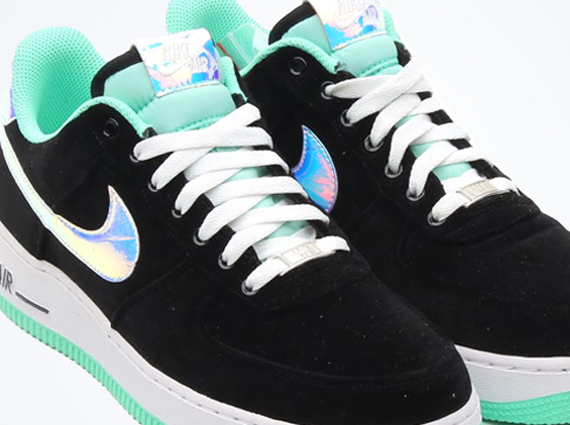 lowest price 26e59 bef5e Nike Air Force 1 Low – Black – Green Glow