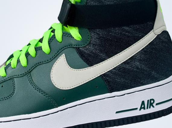 Nike Air Force 1 Black And Green