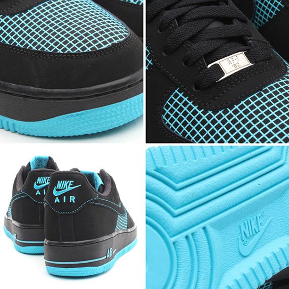 Nike Air Force 1 Bajo Azul Gamma Negro pvPD6Of