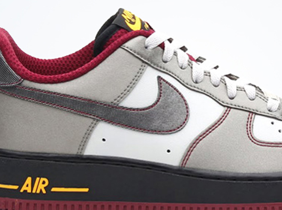 nike air force 1 low dusty grey metallic pewter cherrywood red sneakernewscom cherry air force 1