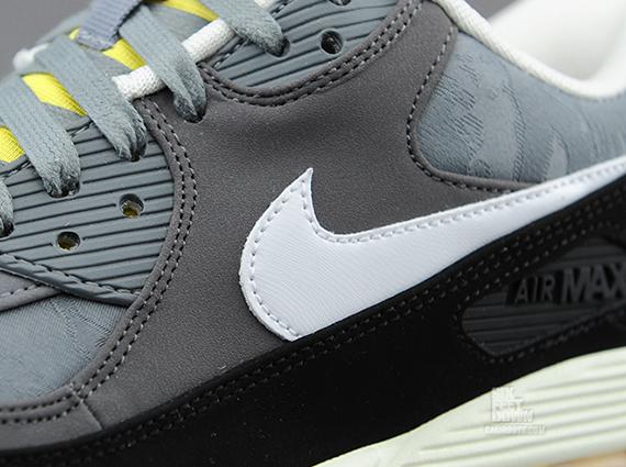 Nike Air Max 90 Premium quotJacquardquot Cool Grey Yellow