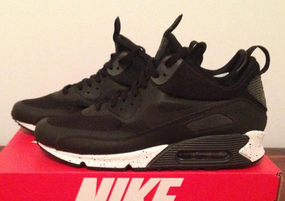Nike Air Max 90 Mid Sneaker Boot NS White Black