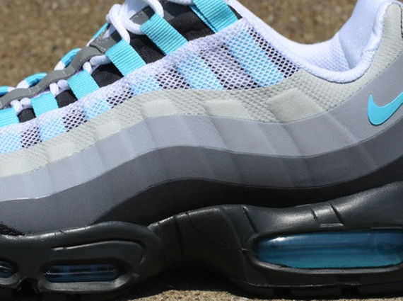 wholesale dealer 9558f 180a5 Nike Air Max 95 No-Sew - Anthracite - Tide Pool Blue - Cool ...