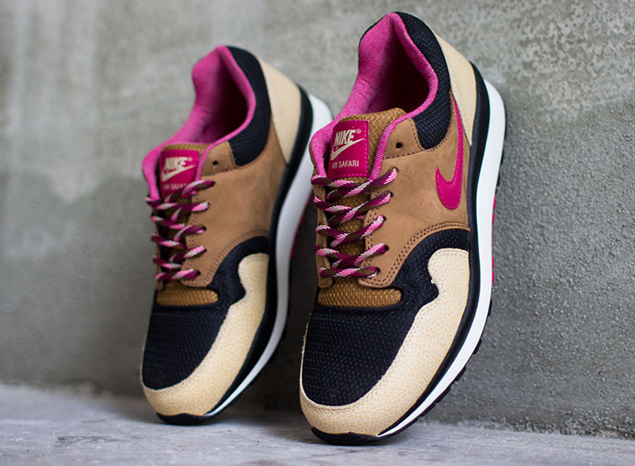 half off 46c43 5ed96 Given how similar the silhouette is to fello Tinker Hatfield 1987 creation  the Air Max 1, when you put tonal browns and purple on a Nike Air Safari,  ...