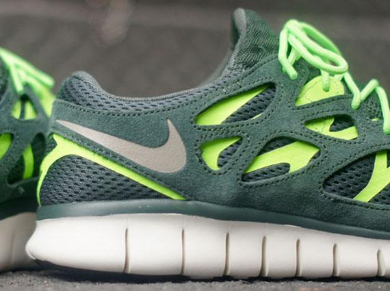 nike free run 2 green