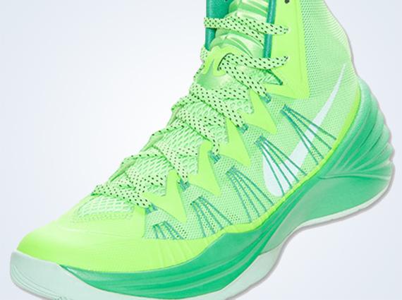 buy online 2b1a3 1bc42 Nike Hyperdunk 2013 – Flash Lime – Arctic Green