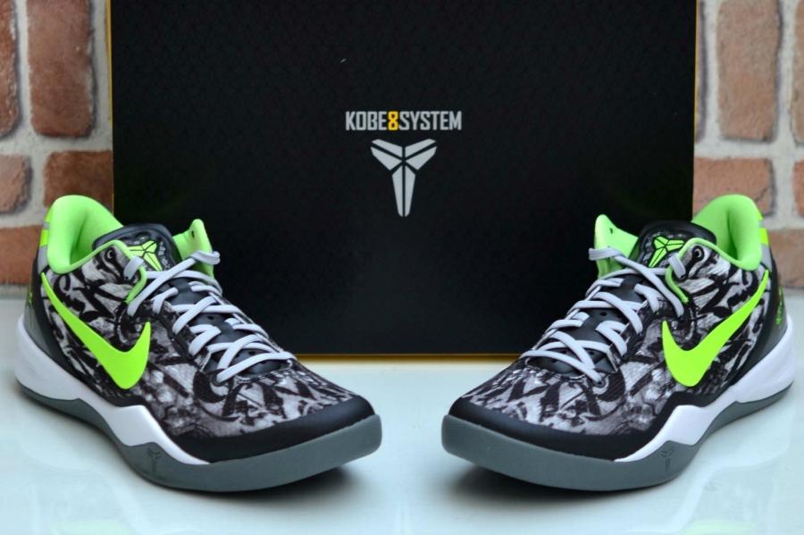 f0d4ce1cd2c4 Nike Kobe 8. White Black-Dark Grey-Flash Lime 555035-100 08 17 13  140.  Advertisement