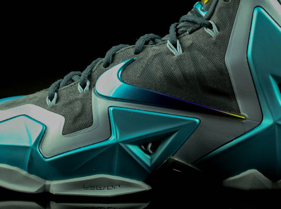 best cheap 4e176 d6f56 durable modeling Nike LeBron 11 Armory Slate Gamma Blue