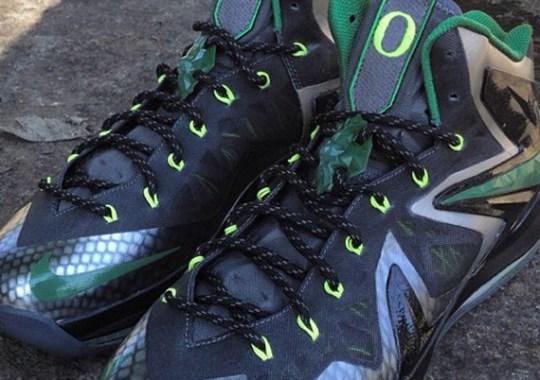 "Nike LeBron X Elite ""Oregon Ducks"" by Mache Customs"