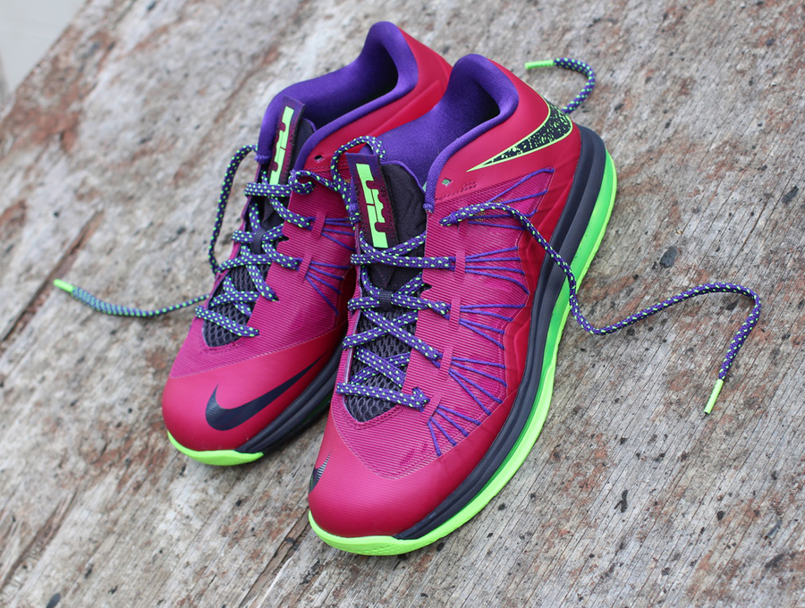 nike lebron x low quotraspberry redquot new release date