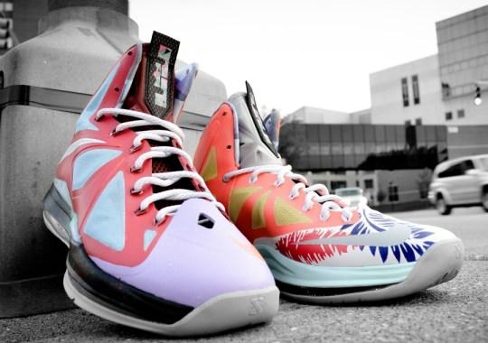 """f34f3dbeba705b Nike LeBron X """"What the LeBron"""" by DMC Customs"""