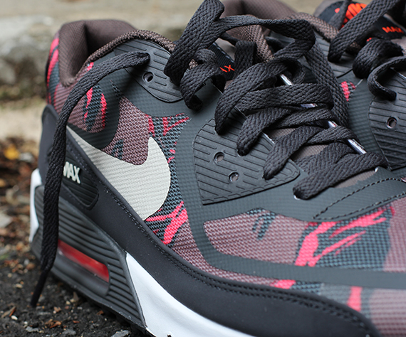 Nike Air Max 90 Tape Red Camo Dark Grey
