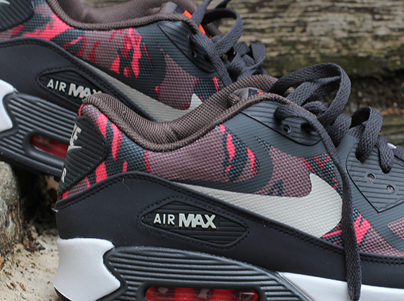 new concept 929ee 01e37 Nike Air Max 90 Tape – Red Camo – Dark Grey