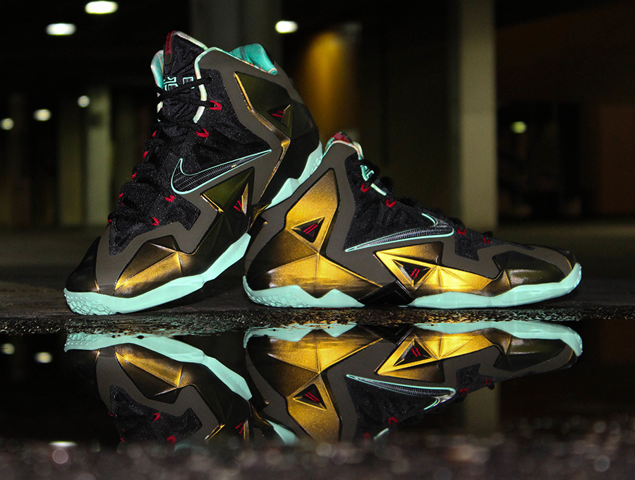 lebron 11 shoes gold - photo #2