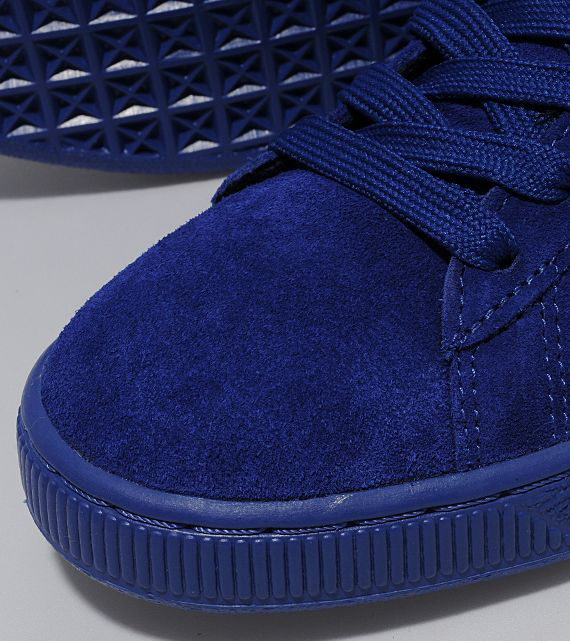 huge selection of e54a7 82352 all navy blue suede pumas