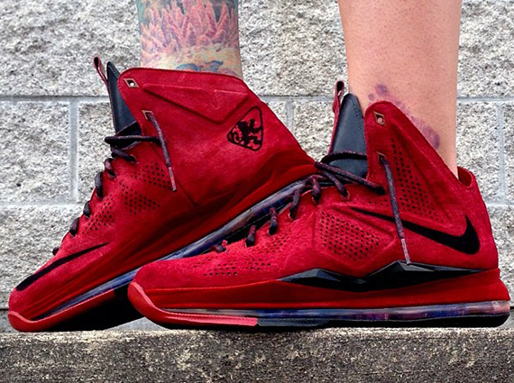 """de6738043c8d The Nike LeBron X """"Red Suede"""" was one of the weirder sample pairs to hit  from LeBron s line this year. The sneakers had the look of an EXT release  but were ..."""