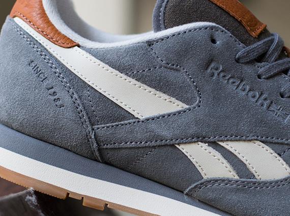 reebok classic leather suede rivet grey