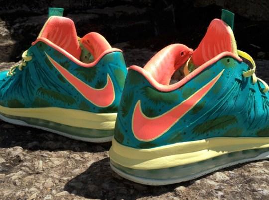 """Nike LeBron X Low """"Reverse Palmer"""" by DeJesus Customs"""