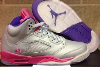 low priced 7cd5a d0f6f Air Jordan 5 Retro GS Cement Grey Pink Flash-Raspberry Red-Electric Purple  440892-009 08 10 13  115 More  Air Jordan V