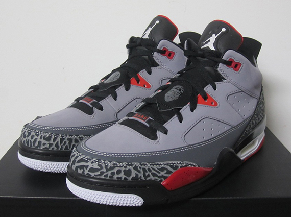 timeless design 095be a25f7 Jordan Son of Mars Low Cement Grey Black-Fire Red-White 580603-004 08 10 13