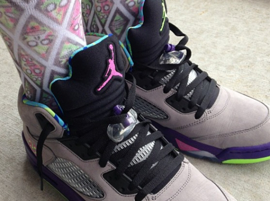 "Trinidad James Shows Off Air Jordan V ""Bel-Air"""