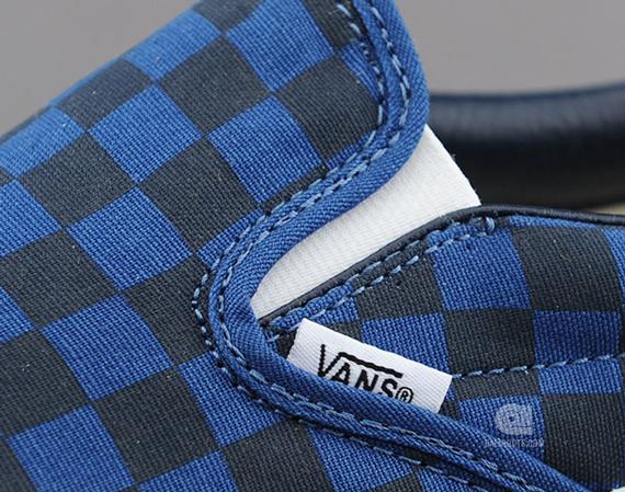 Vans Slip On Dark Blue Checkerboard Sneakernews Com