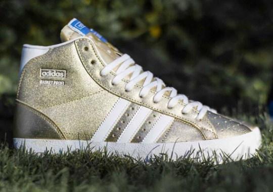 adidas Originals Basket Profi – Metallic Gold – Running White