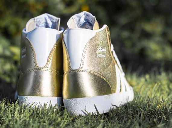 251189459eb adidas Originals Basket Profi - Metallic Gold - Running White ...