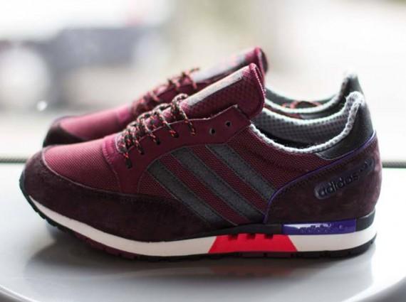 burgundy adidas