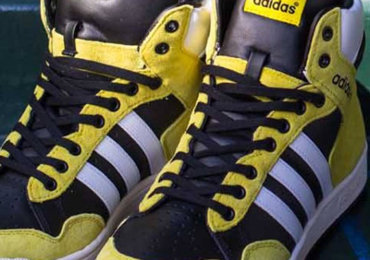 adidas Originals Pro Conference Hi – Black – Vive Yellow – Running White
