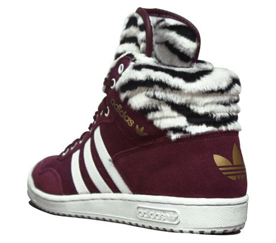 ... new adidas Originals Pro Conference Hi W Light Maroon Zebra ...