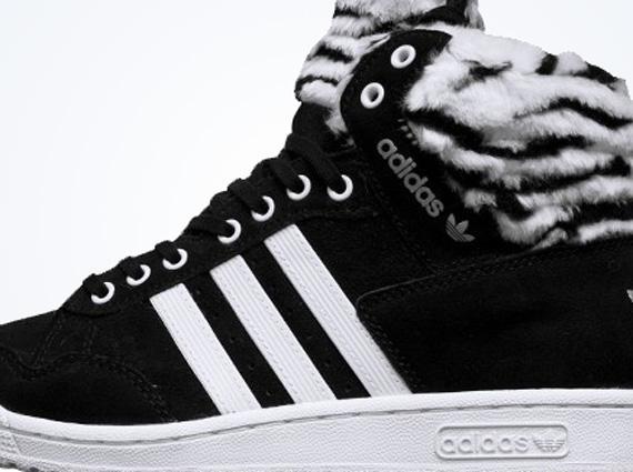 ADIDAS ORIGINALS PRO conference zebra black high tops