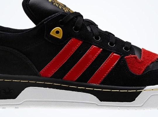 adidas Originals Rivalry Lo – Black – Light Scarlet