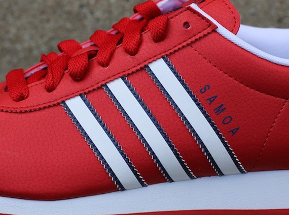 adidas samoa white and red