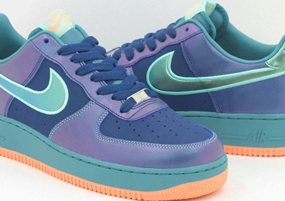 sports shoes 3f5c7 657f9 Nike Air Force 1 Low Brave Blue Mineral Teal Green Glow cheap