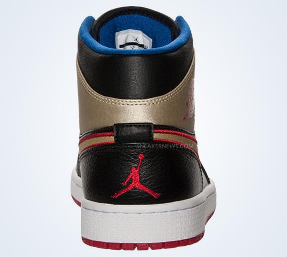 b01a7283314e Air Jordan 1 Mid - Black - Gold - Red - Blue - SneakerNews.com