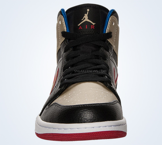 Air Jordan 1 Mid - Black - Gold - Red