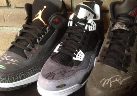 "Air Jordan Retro ""Fear Pack"" – Michael Jordan Autographed Set"