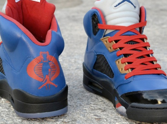 "Air Jordan V ""Cobra Commander"" Customs by Freaker Sneaks"